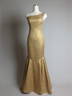 映画祭用ゴールドマーメイドドレス