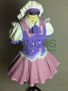 ラディアント・オーキッドカラーのメイド衣装・制服