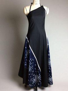 着物リメイクワンピースドレス