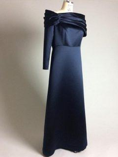 ネイビーアシメトリードレス