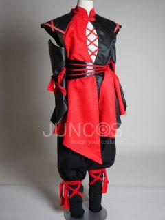 赤黒忍者風ダンサー衣装