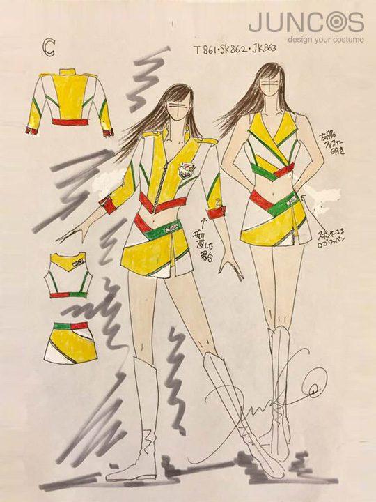 ジェットスフィーン衣装デザイン画